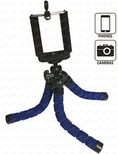 Portable and Flexible Mini Smart Phone Tripod with Universal Clips for Cell Phone and Camera Mount