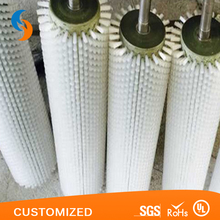 Nylon Bristle Spiral Wound Coil Roller Brush Used For Industry
