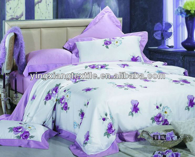 make-to -order printed 50/50 poly cotton fabric bed sheets