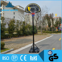 New Portable Movable Fiberglass Basketball Backboard Stand With Ring