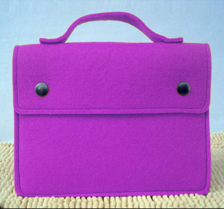Custom New Felt Envelope Sleeve Tablet Carrying Case Laptop Protective Bag with Accessory Pockets for Macbook