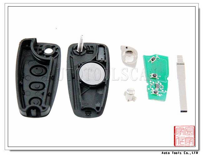 High quality Auto 3 button remote smart key with 4d60 transponder chip inside 433mhz frequency for Ford Focus,AK018032