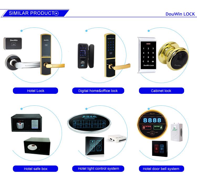 Serrure d'empreinte digitale avec mot de passe pour écran Douwin Touch pour portes poussantes ou coulissantes