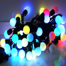 Christmas home street colorful decoration led glass ball ornaments