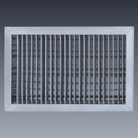 stainless steel double deflection ventilation grille