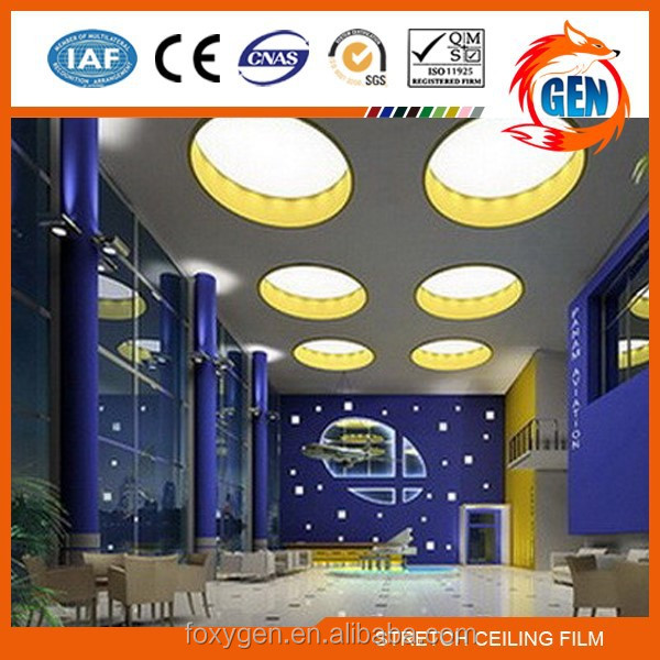Project European style modern design pvc gypsum ceiling board with 15-year warranty for swimming pools