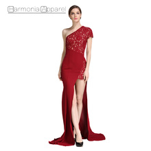 FL404 latest gown designs Sexy Long Sleeve Mermaid Lace Party Gown Women Evening Dresses Gown
