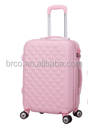 "best selling lovely abs trolley hard shell luggage cute suitcase girls kids 28"" luggage"