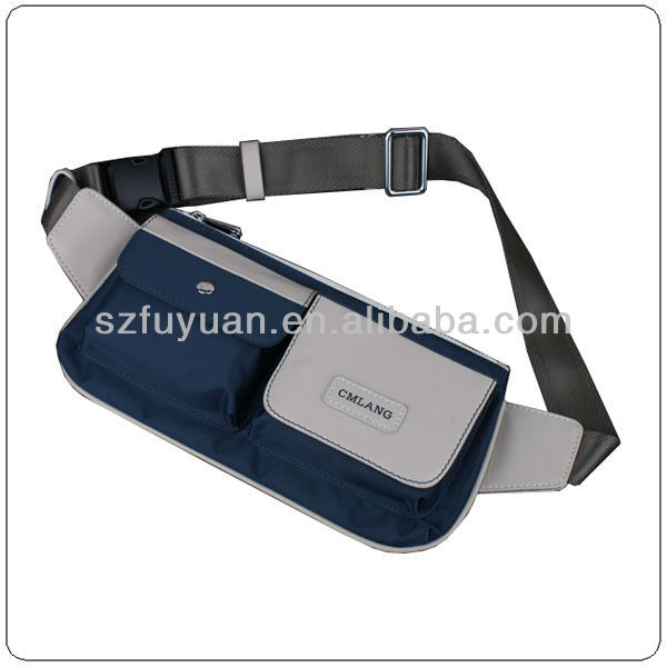 custom men leisure waist bag for ipad hotsale