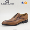 Pakistan shoes men genuine leather presents Classic Wingtip Brogue in HD212-D42 TAN business environment