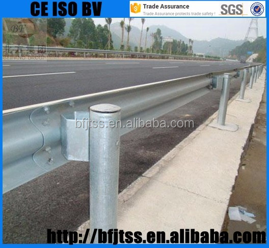 Made in China Road Crash Barrier highway guardrail accessories prices galvanized highway protection guardrail for sale
