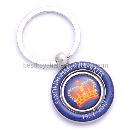 round shaped souvenir hot sales epoxy logo keychain custom design gift