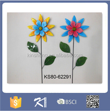 Wholesale Metal sunflower garden stake for decor