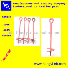 ground screw anchor for farm using