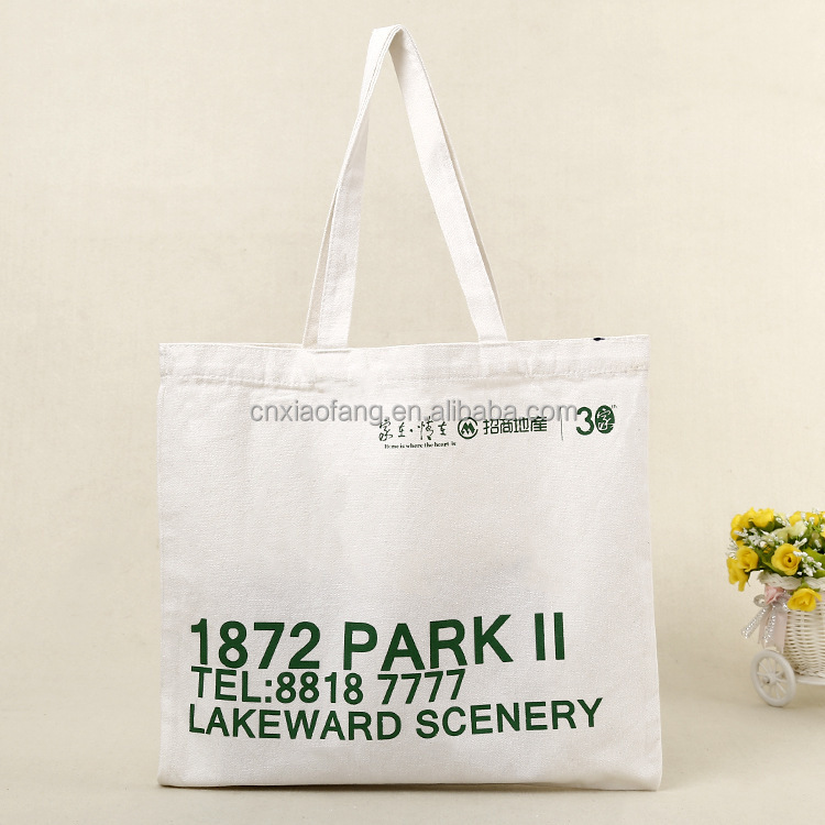 canvas tote bag with custom printed logo