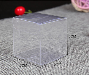 Size 5*5*5cm small plastic box,clear plastic gift box