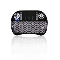 I8 2.4G Mini Wireless keyboard With Built-in backlight lithium-ion battery air mouse pro