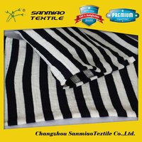SANMIAO Brand OEM exported blue white stripe fabric SBWHCP-165