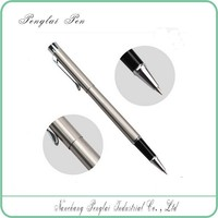 2016 High quality silver metal ball pen roller pen wholesale alibaba min order 10 pcs