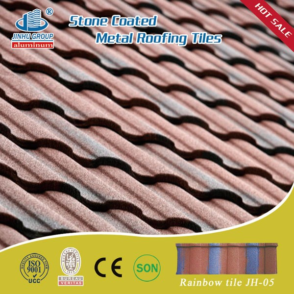 wine red/black blue color stone coated steel roof tiles/roofing system