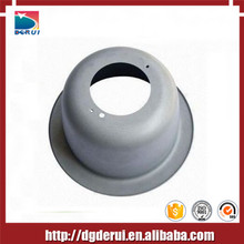 light cover low cost aluminum powder coating cnc spinning part