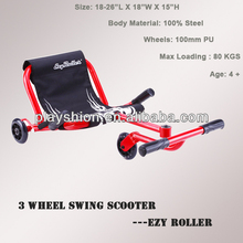 New ezy roller ride on cart 3 wheels push Bar Tricycle