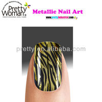 Gold Tiger Nail Art Design Pictures Sexy Woman Nails Decoration Manicure Care Products