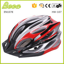 Wholesale PC in-mold bicycle helmet with 22 air vents with high quality for adult
