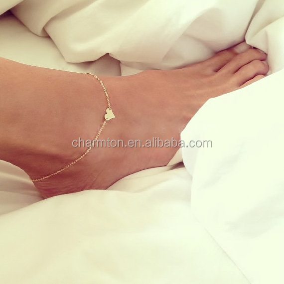 Wholesale valentine jewelry anklet sweat heart