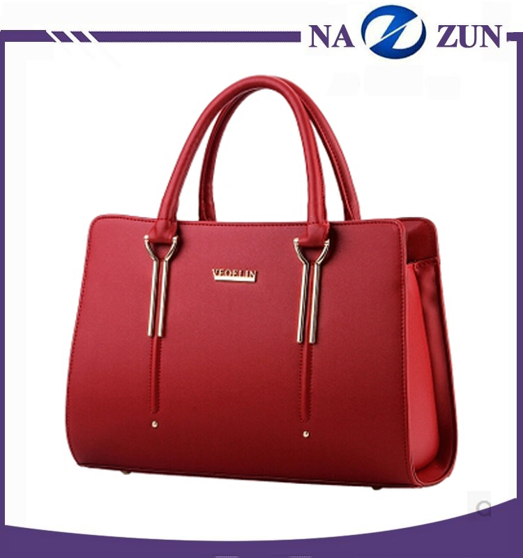 2016 China Manufacturer Fashion Woman Genuine Cow Leather Handbag for Ladies