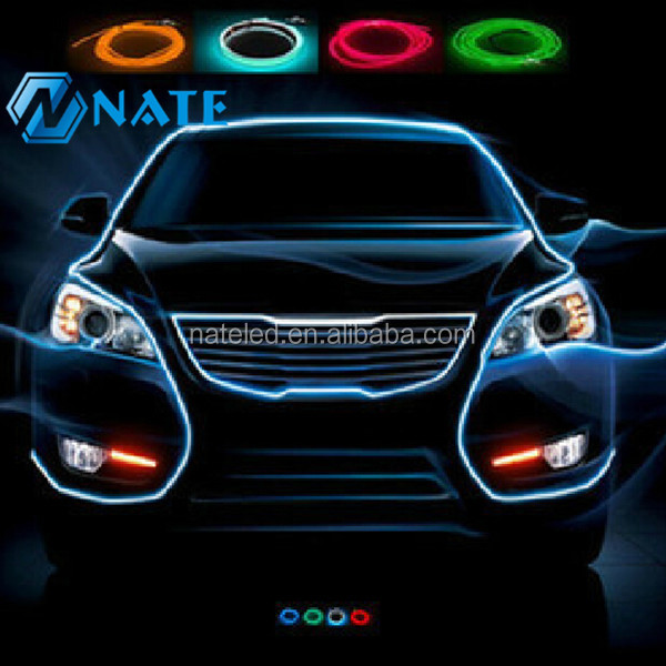 elettroluminescente filo el illuminazione auto el wire interni decorazione-si...