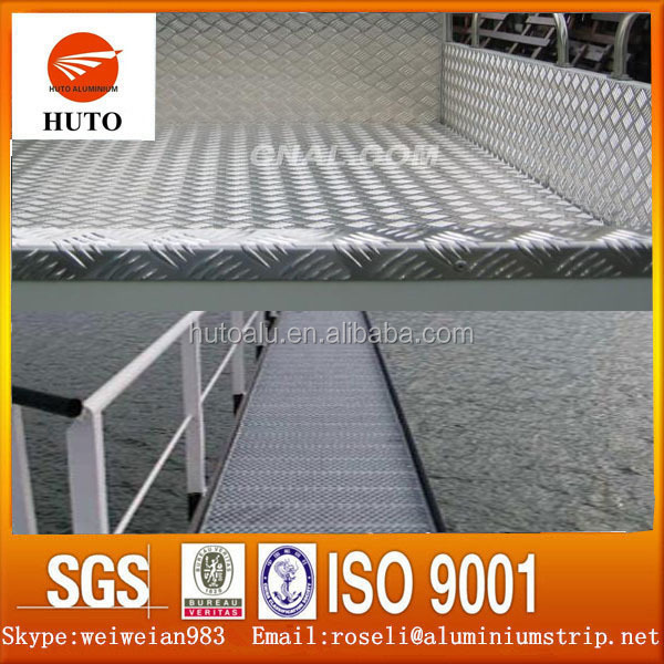 1.0 mm Thickness Pure Aluminium Embossed Sheet Flooring