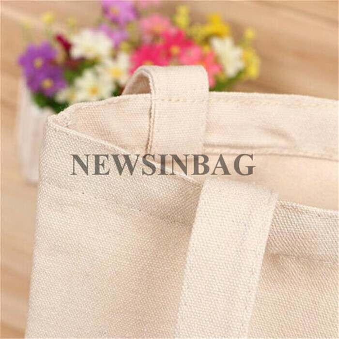 NEWSINBAG wholesale recyclable shopping cotton canvas tote bag