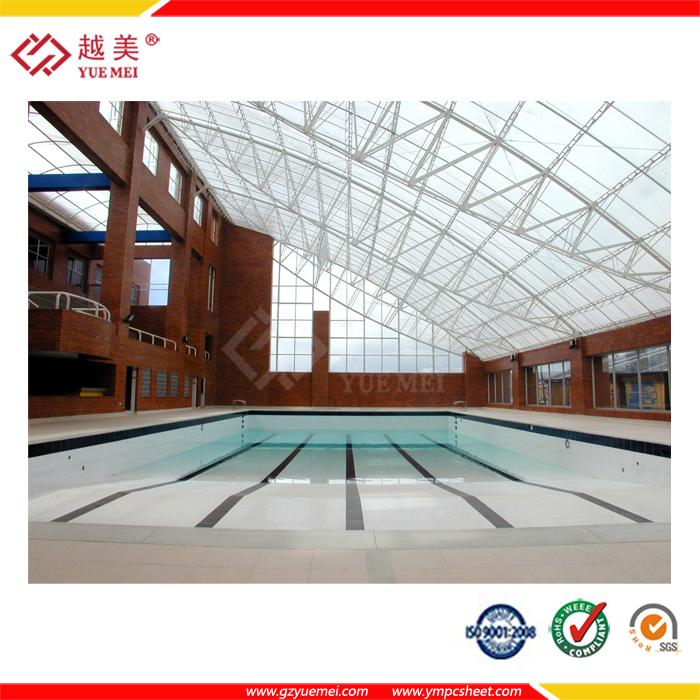 Cubiertas para techos de hoja de techo de policarbonato for Techo policarbonato transparente