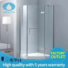 Sliding high quality bubble glass shower door with en12150-1 JL139