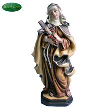 Hand painting religious polyresin craft virgin mary