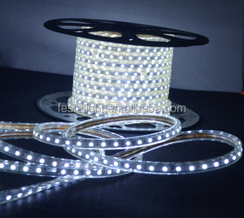 2017 Hot-selling LED flexible strip light 2835 decoration pvc copper wire led strip light 60led/m flat flexible 220v led strip