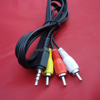 3.5mm Stereo male Mini Jack to 3 Male RCA Plug Adapter Audio Cable
