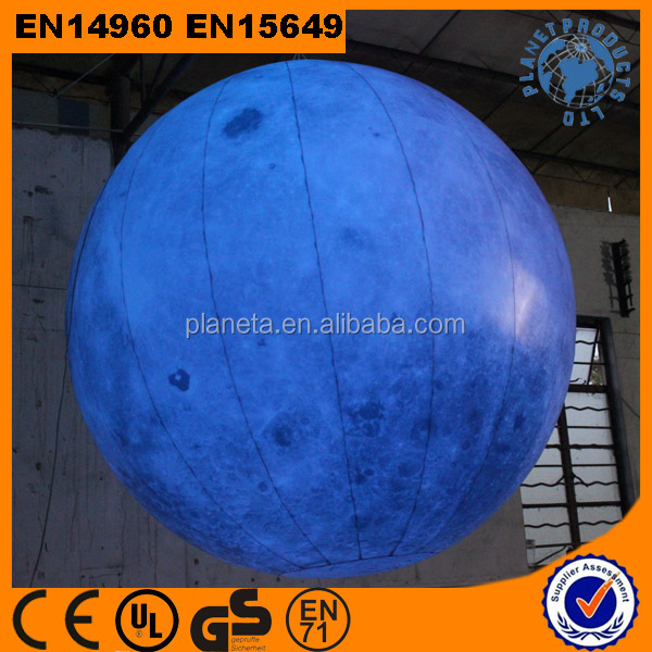 High Quality Giant Decoration Lighting Inflatable Moon Ball For Sale