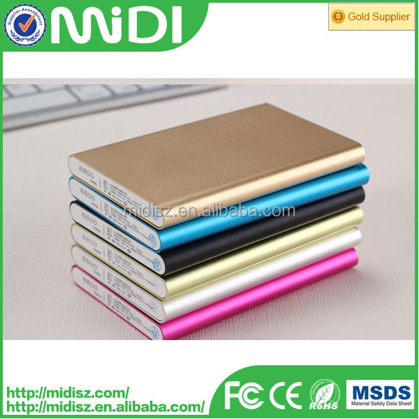 external portable battery charger,super thin power bank 6000mah