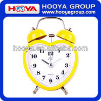 Promotional twin bell metal table alarm clock
