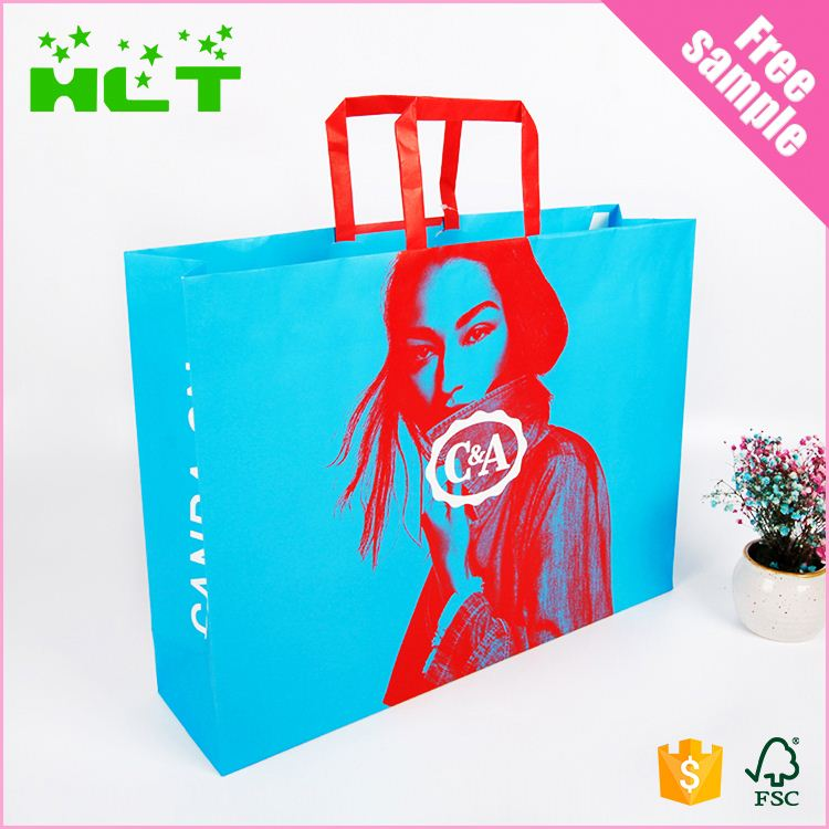 Custom Printed Luxury paper shopping gift bag with Your Own Logo