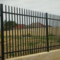 Decorative Low Price High Quality ISO9001 Wrought Iron fence, metal fence