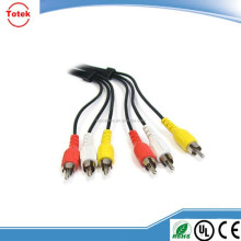 3RCA to 3RCA Audio Video Composite RCA Cable (1.8 meter)