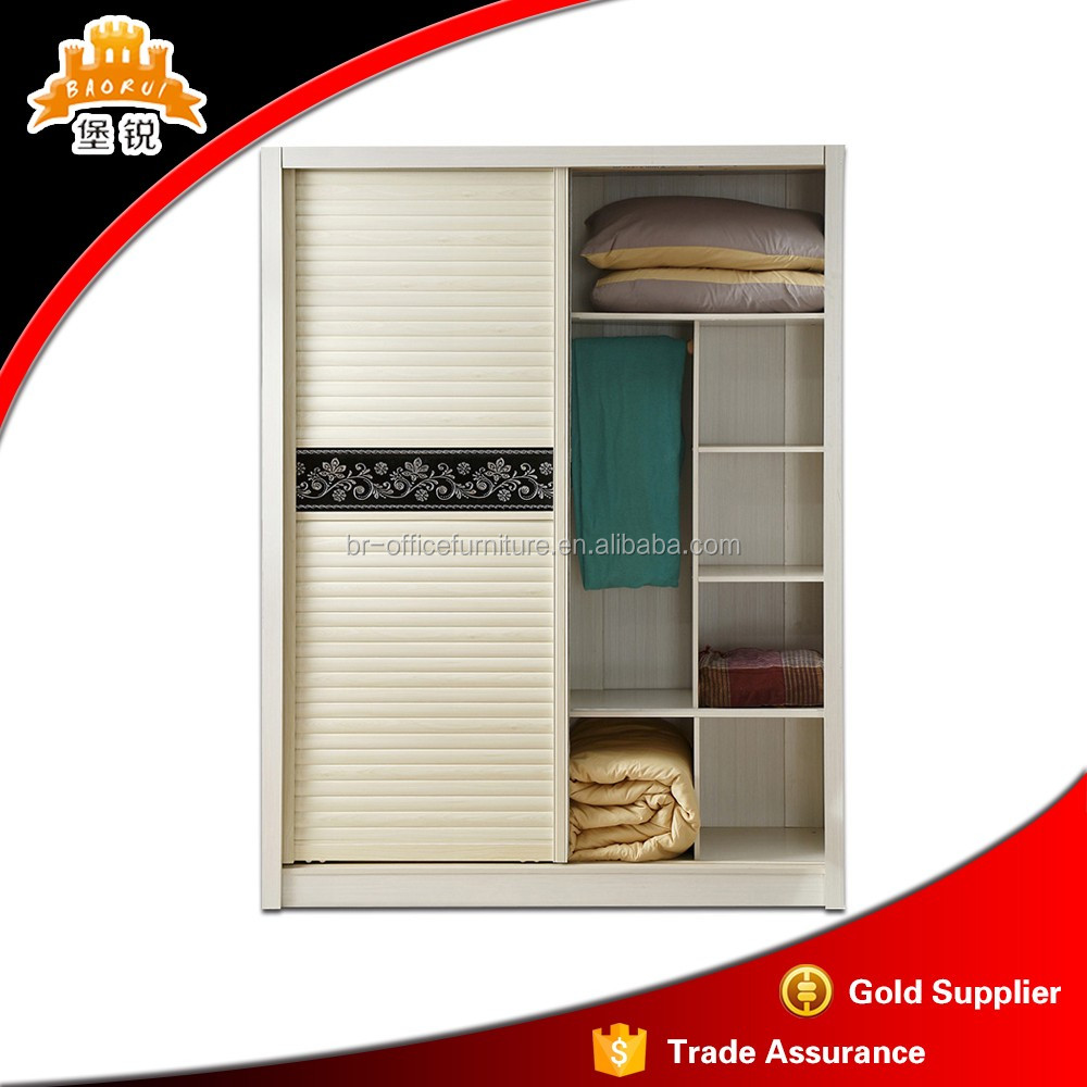 fitting model and cheap prices metal and steel material sliding door wardrobe