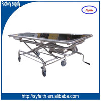 Hydraulic Mortuary Trolley With 304 Stainless