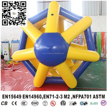 Inflatable water rolling tube,inflatable hamster wheel,water wheel game