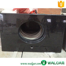 Hot Materials Black Galaxy cheap granite vanity top with vessel sink For wholesale