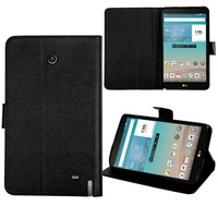 Wholesale luxury flip PU leather car slots cover fashion tablet case for LG G Pad F8.0 /V495