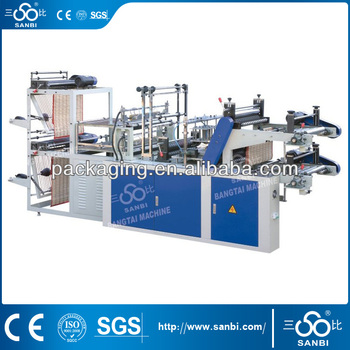 DZB600-800 Computer Control High-speed Vest Rolling Bag-making Machine (Double layer)